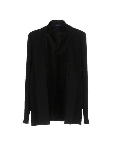 BLUE LES COPAINS Veste femme. crêpe, sans applications, couleur unie de base, décolleté profond, veste droite, multipoches, manche
