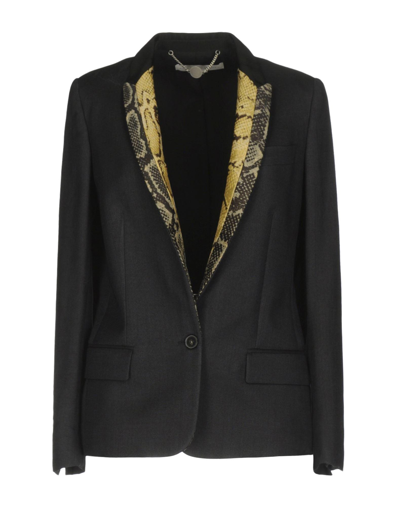 《期間限定セール中》STELLA McCARTNEY レディース テーラードジャケット ブラック 44 ウール 53% / シルク 29% / ナイロン 18% / ポリエステル / コットン