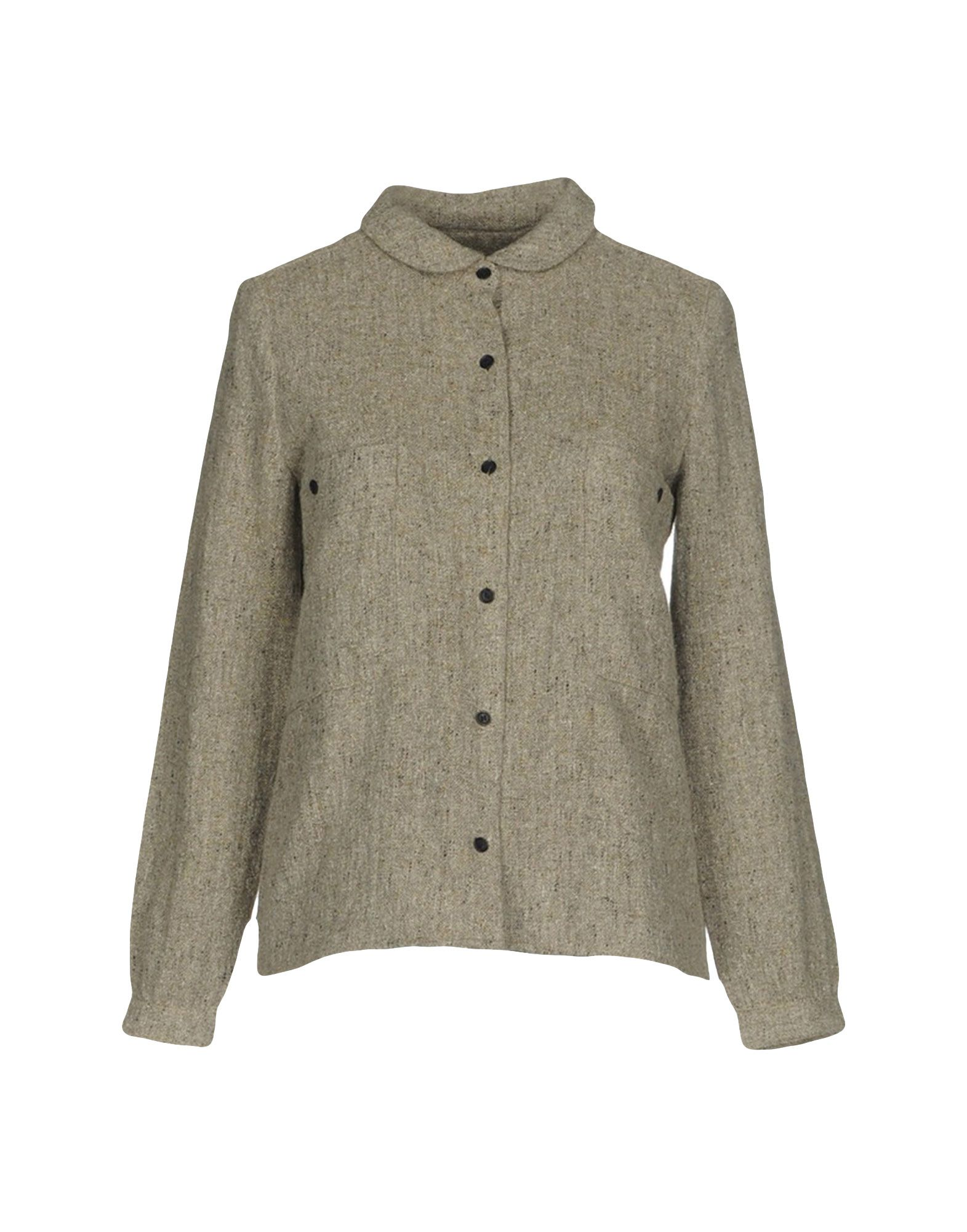 FRENCH TROTTERS Solid Color Shirts & Blouses in Grey