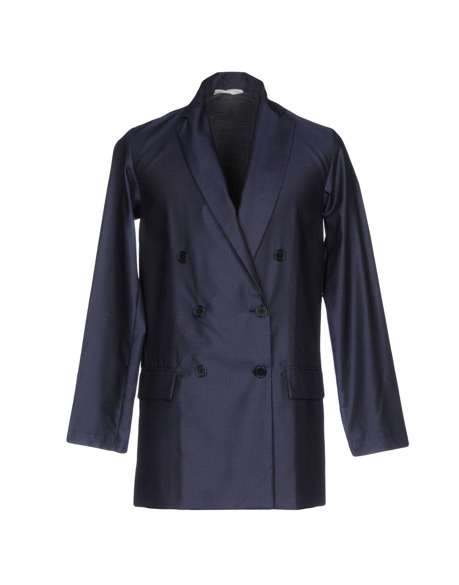 《送料無料》LUCIO VANOTTI メンズ テーラードジャケット ダークブルー 3 コットン 100%