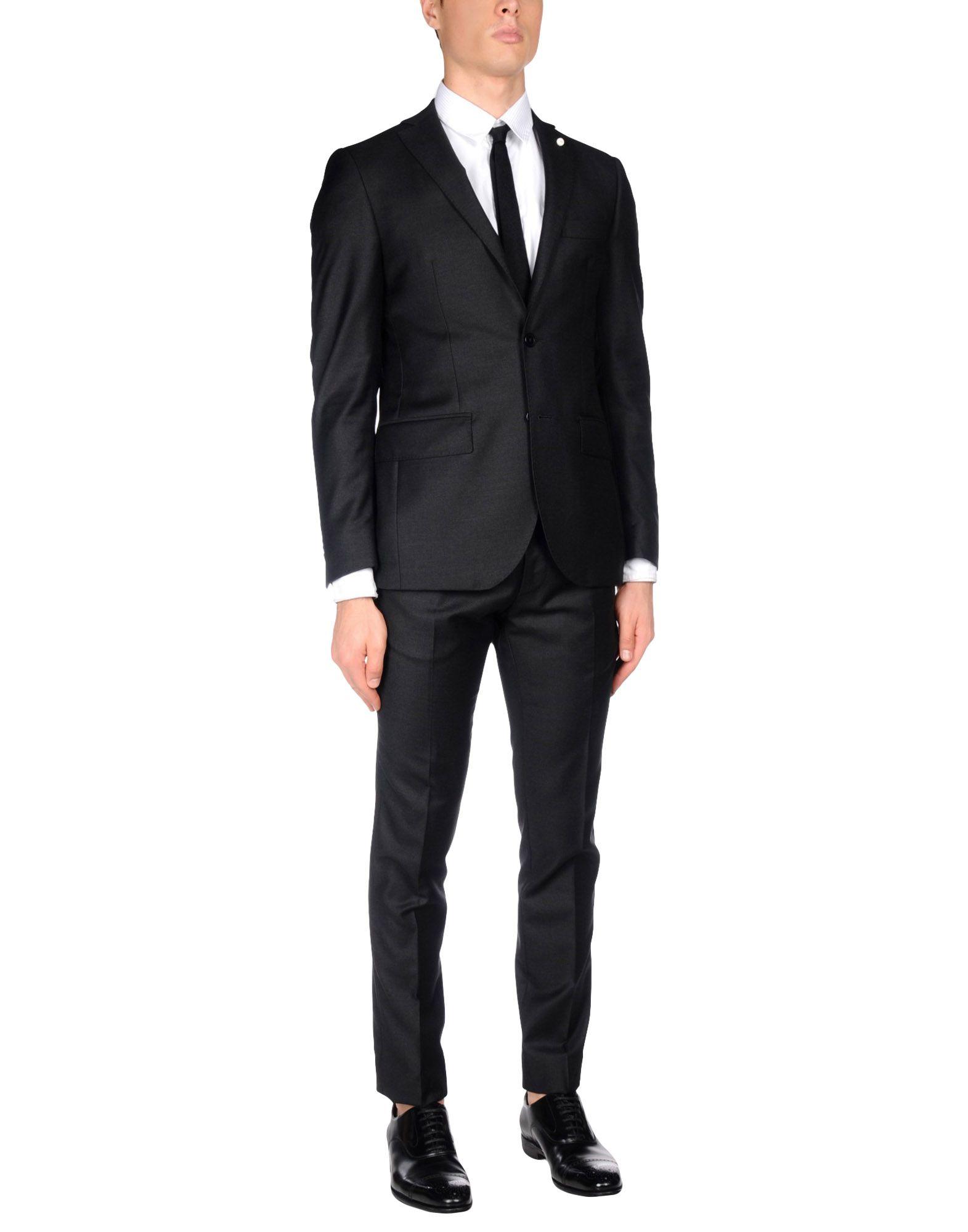 LUIGI BIANCHI Mantova Herren Anzug Farbe Granitgrau Größe 7 jetztbilligerkaufen