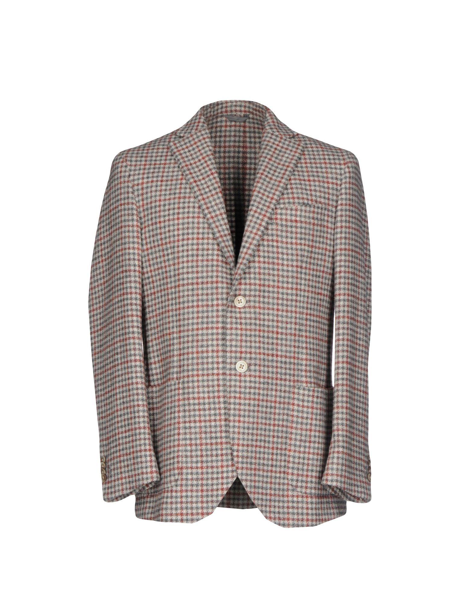 LUIGI BIANCHI Mantova Herren Jackett Farbe Grau Größe 6 jetztbilligerkaufen