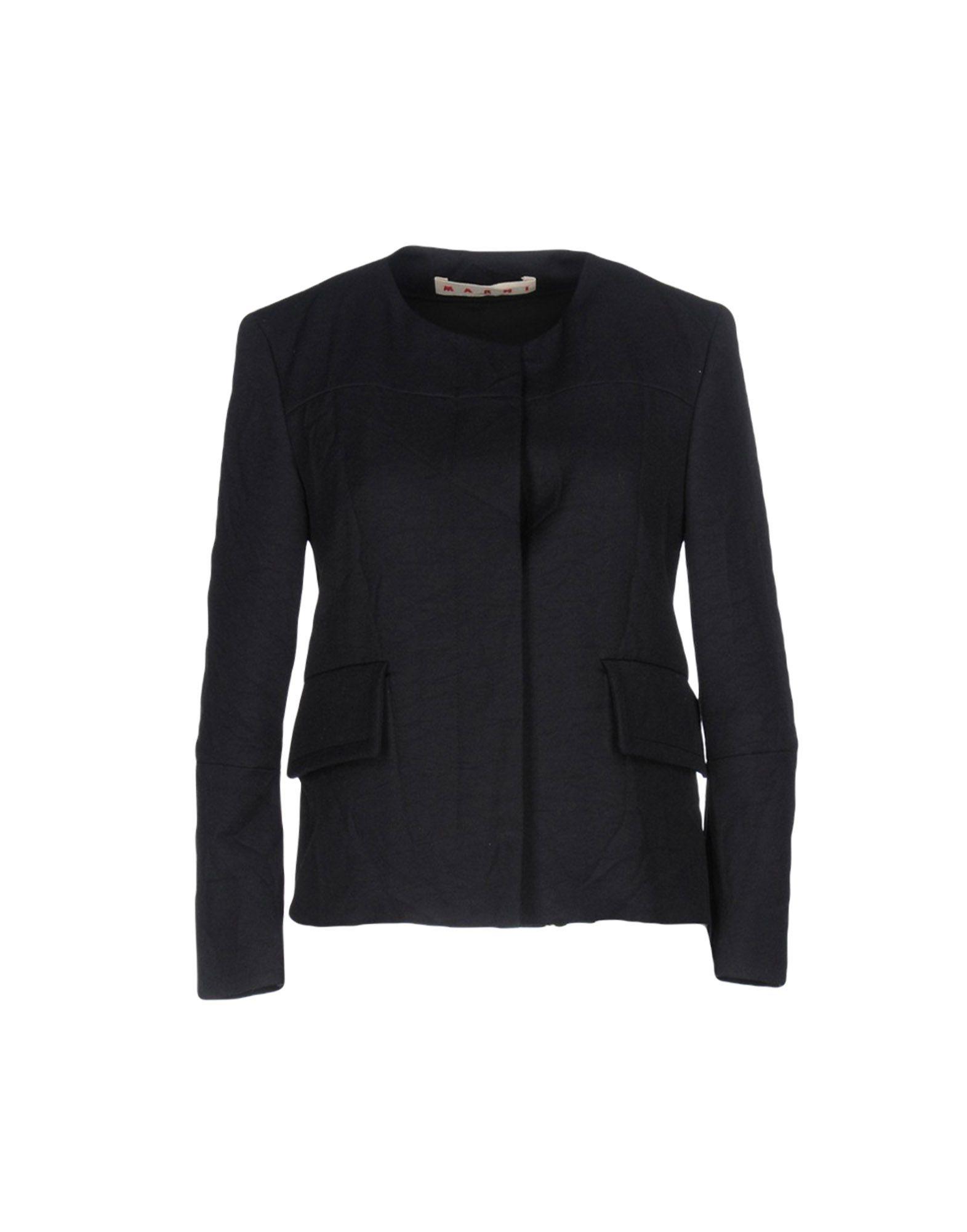 MARNI Damen Jackett Farbe Dunkelblau Größe 2 jetztbilligerkaufen