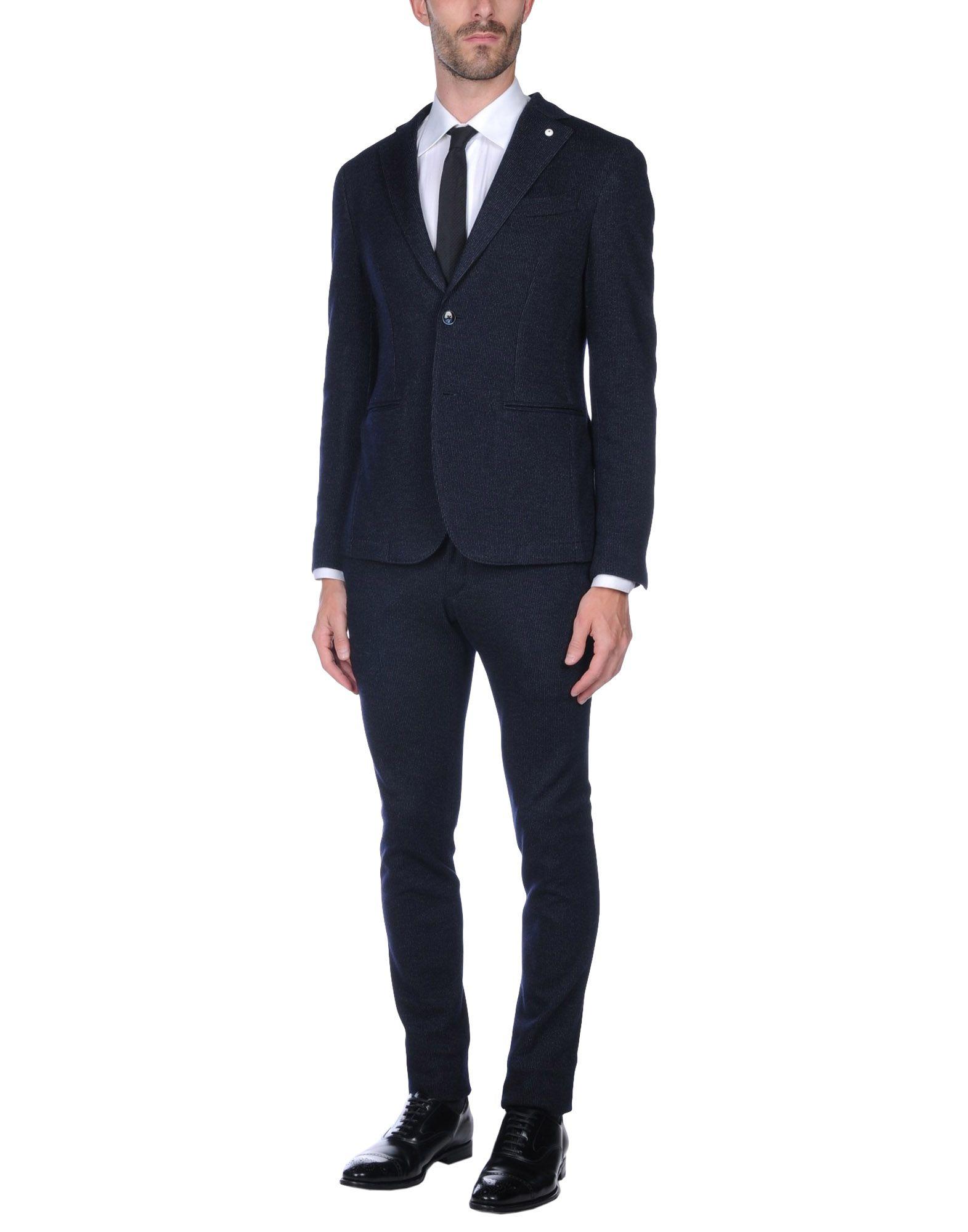 LUIGI BIANCHI Mantova Herren Anzug Farbe Dunkelblau Größe 5 jetztbilligerkaufen