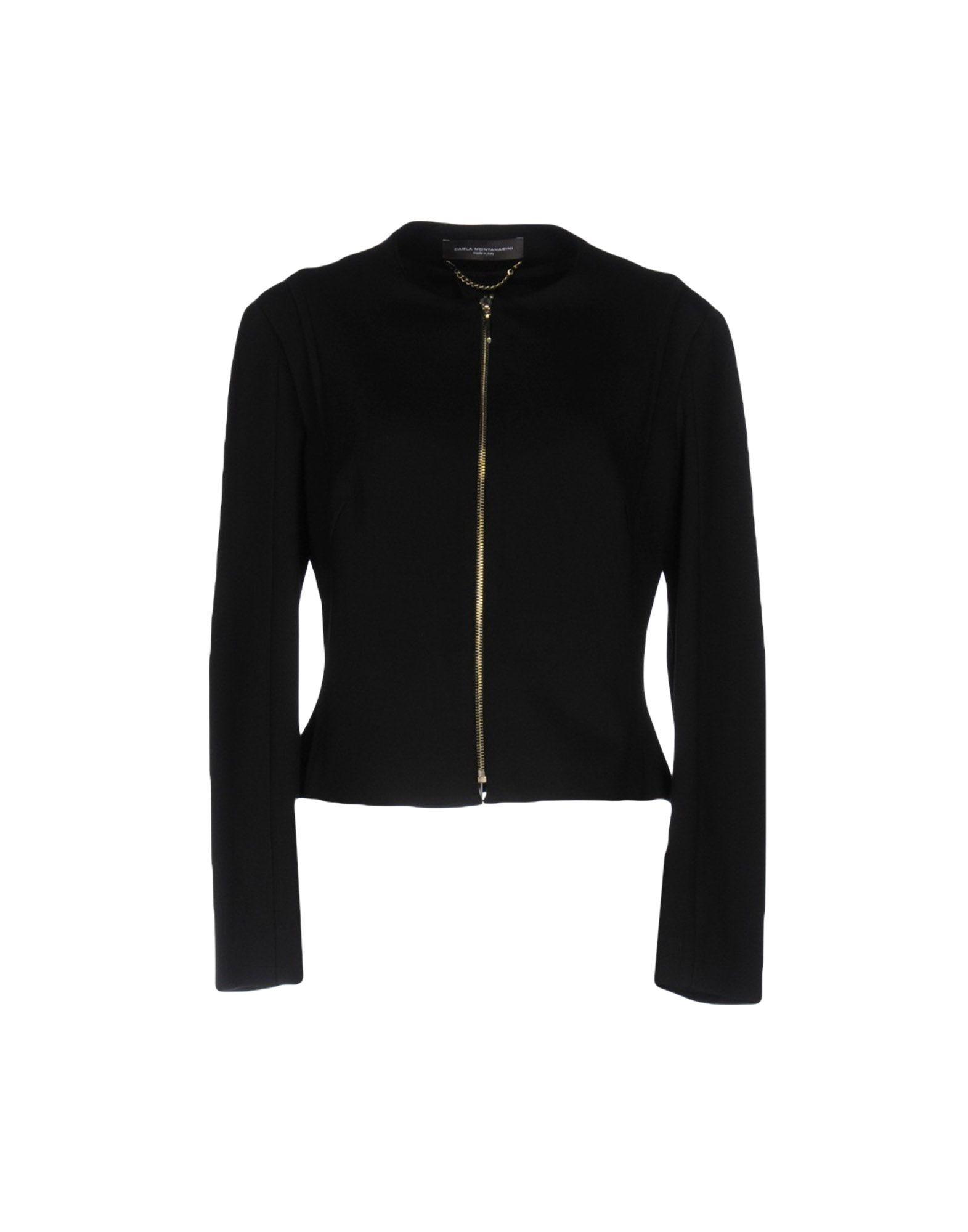 CARLA MONTANARINI Damen Jackett Farbe Schwarz Größe 6 jetztbilligerkaufen