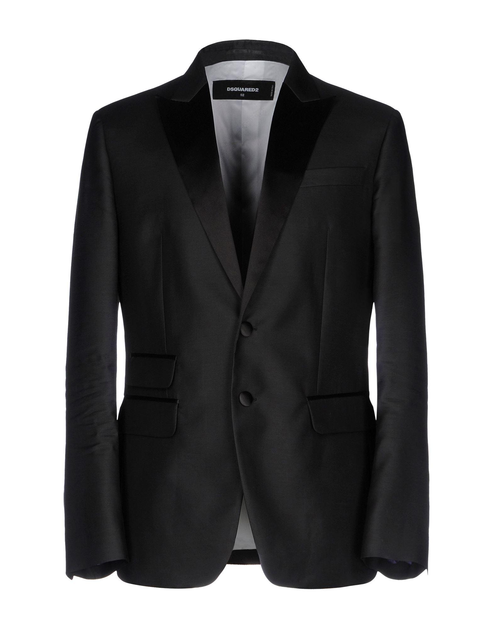 DSQUARED2 Herren Jackett Farbe Schwarz Größe 4 jetztbilligerkaufen