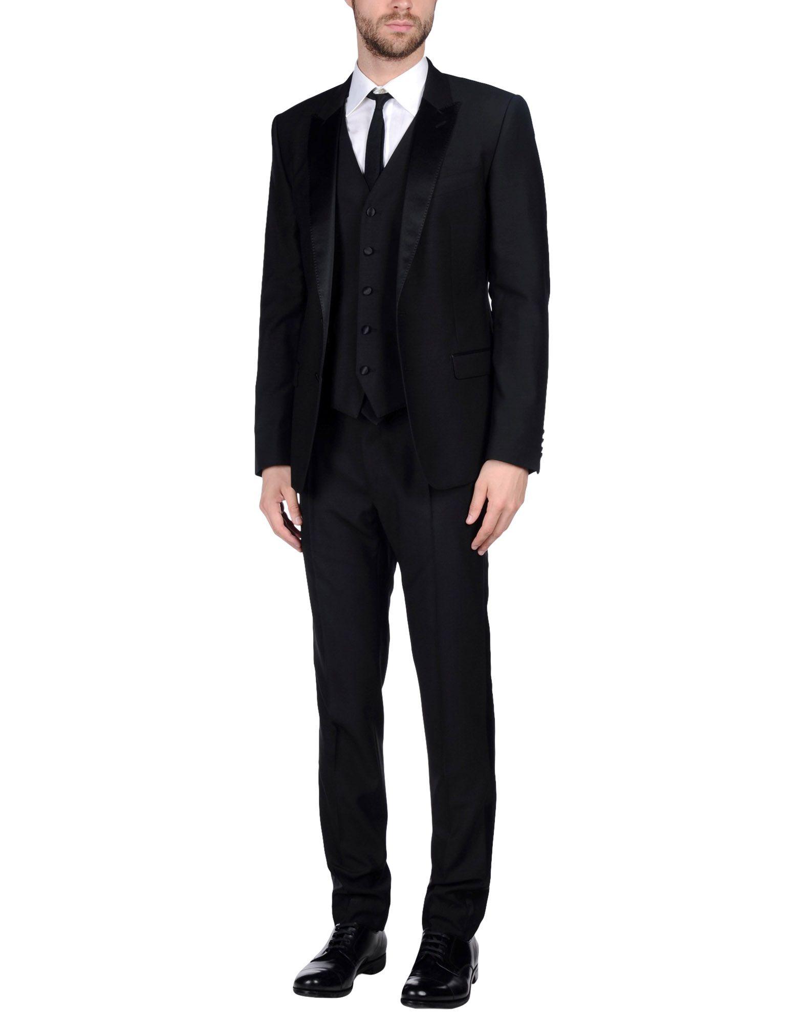 DOLCE & GABBANA Herren Anzug Farbe Schwarz Größe 5 jetztbilligerkaufen