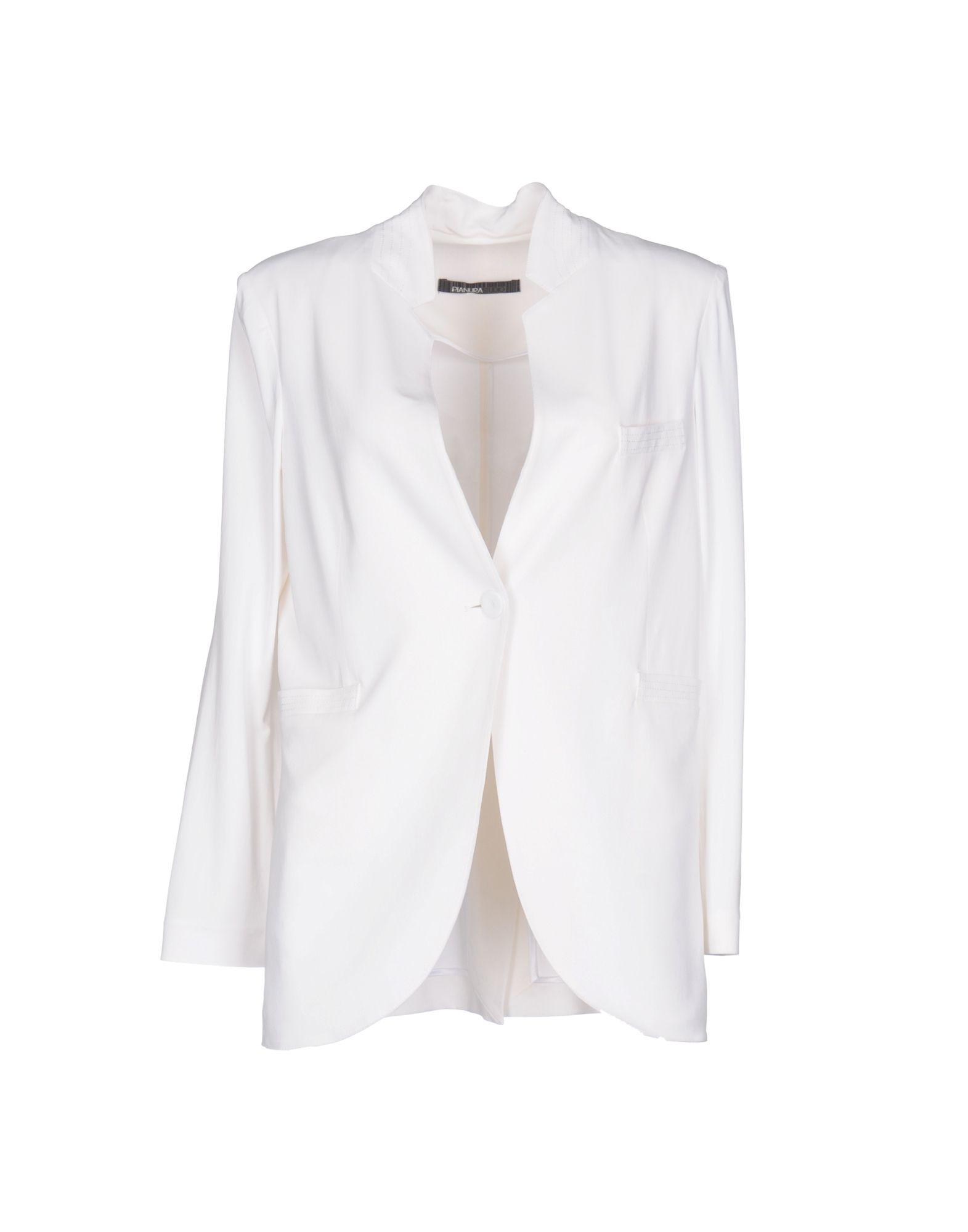 PIANURASTUDIO Damen Jackett Farbe Weiß Größe 5 jetztbilligerkaufen