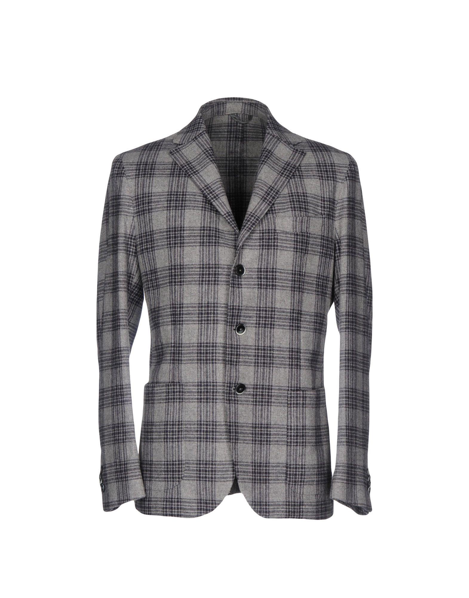 《送料無料》LUIGI BIANCHI ROUGH メンズ テーラードジャケット グレー 50 バージンウール 100%