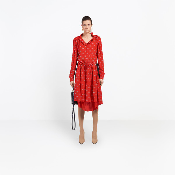 BALENCIAGA Dress D Hybrid V Neck Dress g