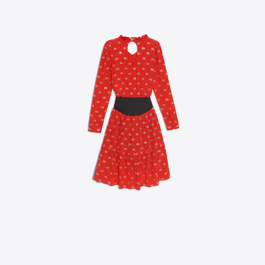 BALENCIAGA Hybrid V Neck Dress Dress D d