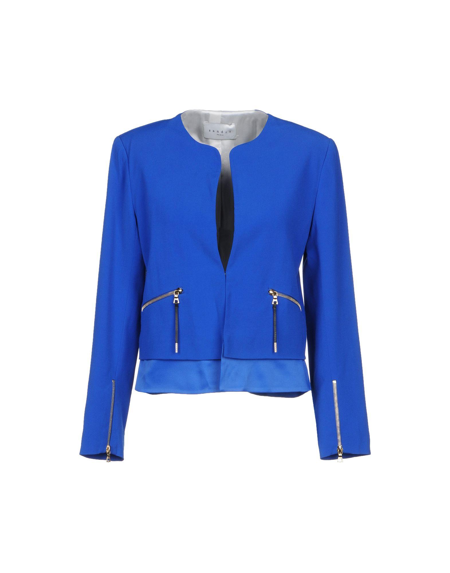 SANDRO PARIS Blazer in Bright Blue