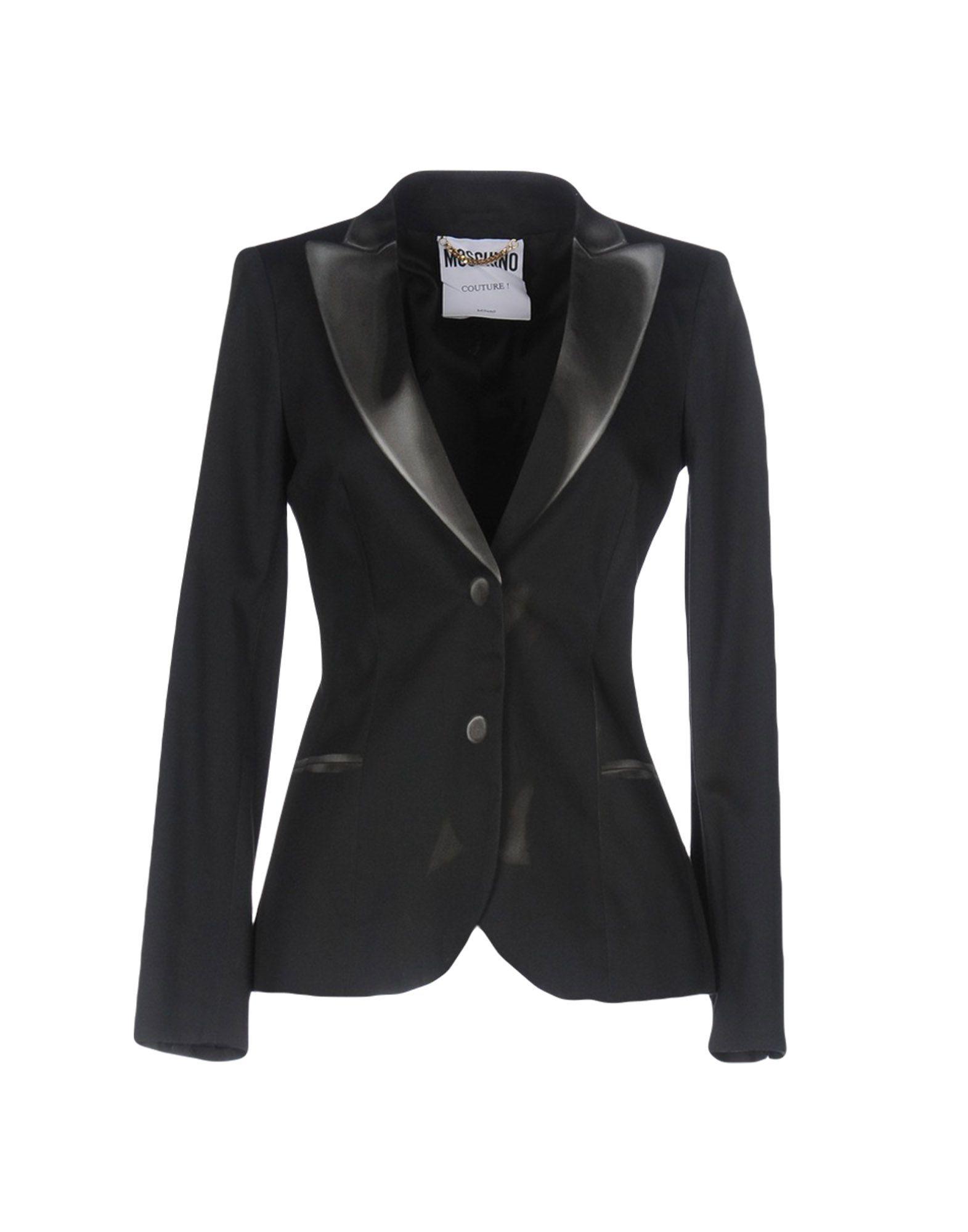 Outfit | MOSCHINO COUTURE Damen Jackett Farbe Granitgrau Größe 6