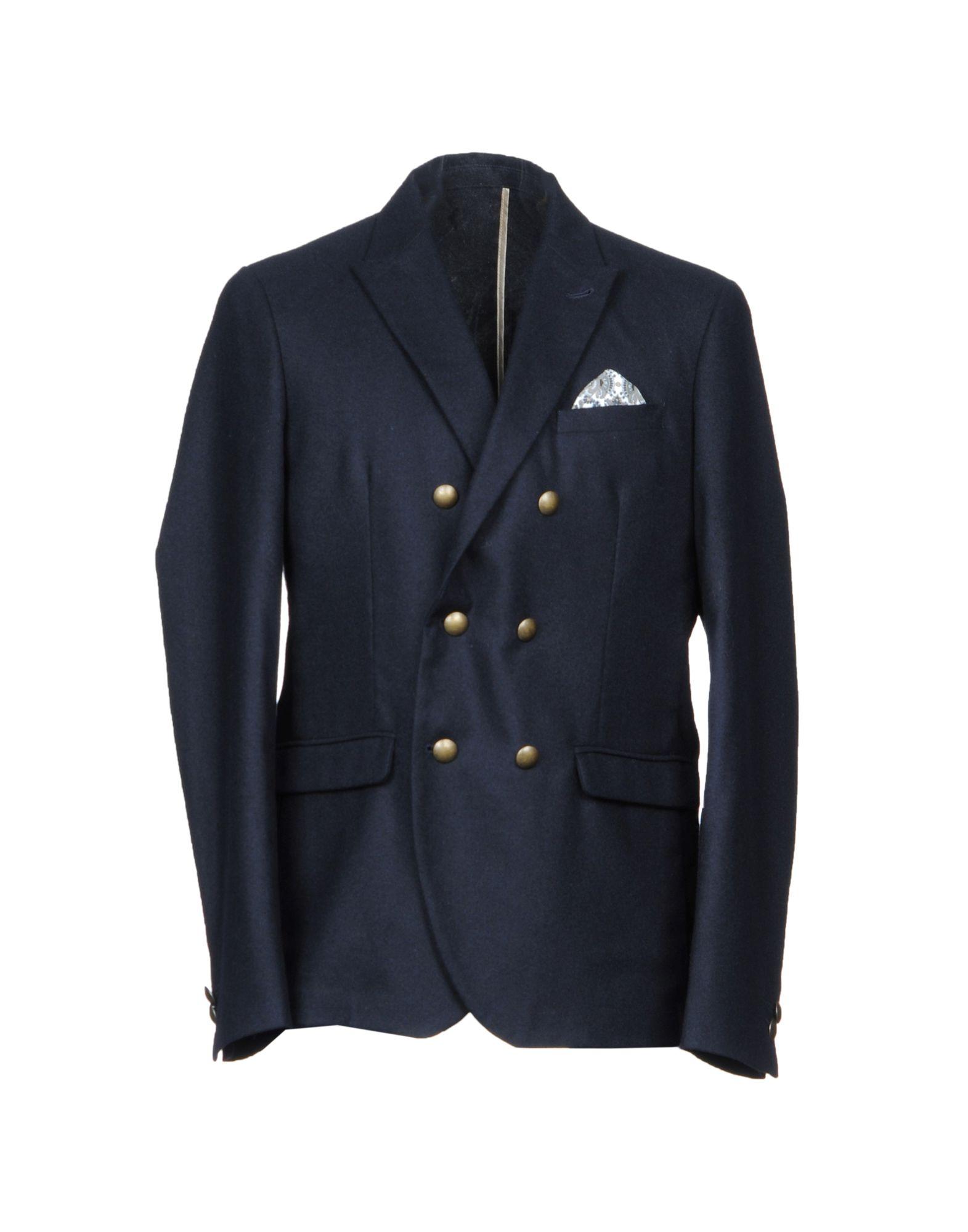 《期間限定 セール開催中》OFFICINA 36 メンズ テーラードジャケット ダークブルー 48 ウール 65% / ポリエステル 30% / アルテックス 5%