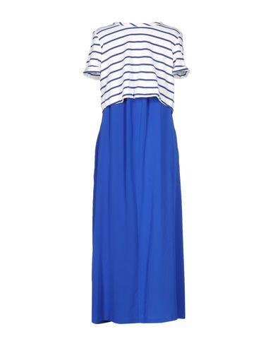 Фото 2 - Платье длиной 3/4 синего цвета