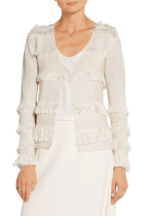 MAIYET Fringed crocheted silk jacket