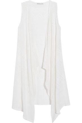 ALICE + OLIVIA Brennen crocheted linen-blend vest