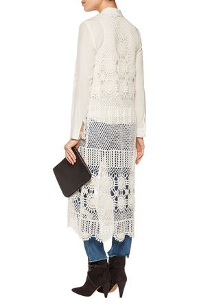 ... ALICE + OLIVIA Quentin crocheted linen-blend vest