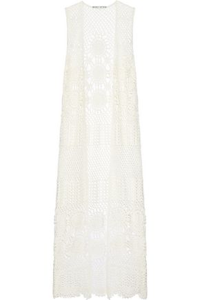 ALICE + OLIVIA Quentin crocheted linen-blend vest