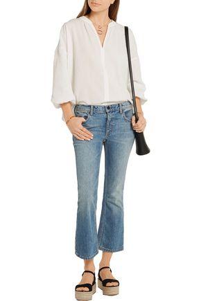M.I.H JEANS Ali crinkled-cotton blouse