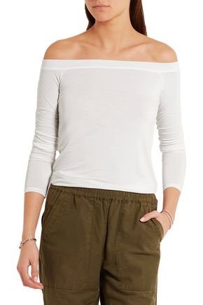 SPLENDID Off-the-shoulder stretch-jersey top