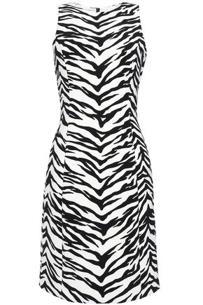 MOSCHINO CHEAP AND CHIC Zebra-print jersey dress