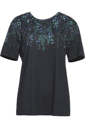 JASON WU Printed cotton and Modal-blend jersey T-shirt
