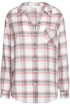 JOIE Checked cotton top