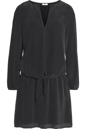 JOIE Zeina washed-silk mini dress