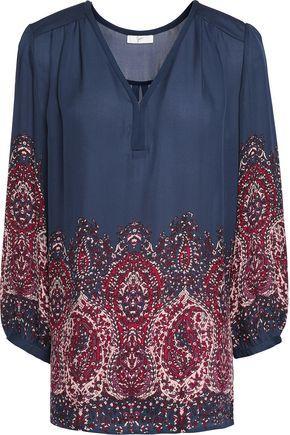 JOIE Riva printed silk-chiffon blouse