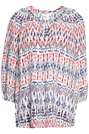 JOIE Printed silk crepe de chine top