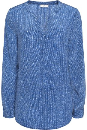 JOIE Peterson printed washed-silk top