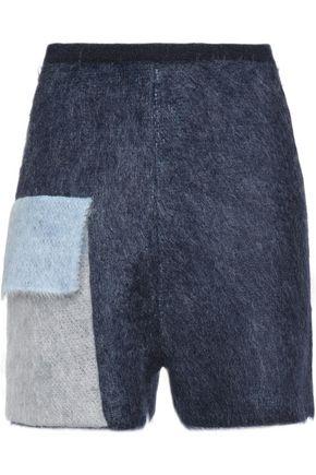 VIONNET Color-block mohair-blend shorts