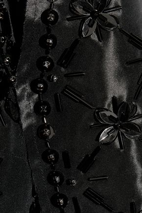 MAISON MARGIELA Embellished taffeta-paneled silk-organza top