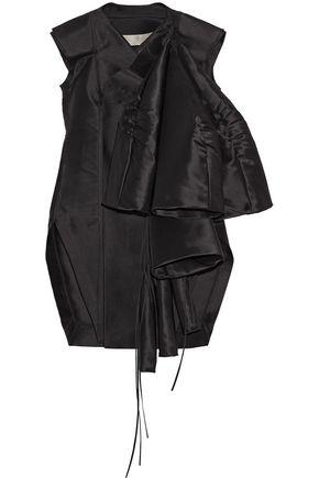 RICK OWENS Folded duchesse-satin coat