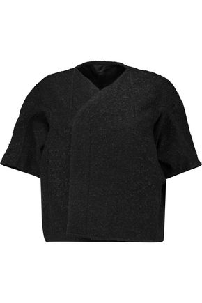 RICK OWENS Cropped cotton-blend bouclé cocoon jacket