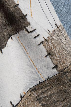 NORMA KAMALI Printed tech-jersey jacket