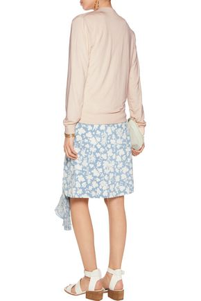 TART COLLECTIONS Hollice washed-crepe de chine jacket