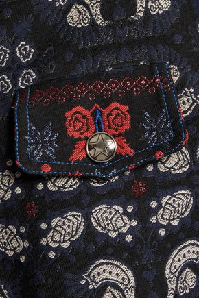 ANNA SUI Denim and jacquard jacket