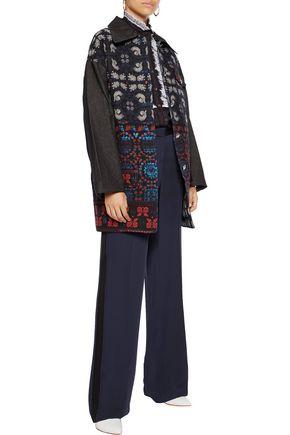 ANNA SUI Denim and jacquard jacket