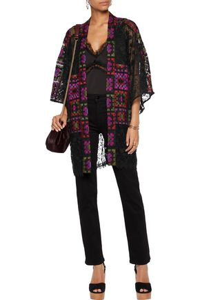 ANNA SUI Embroidered tulle jacket