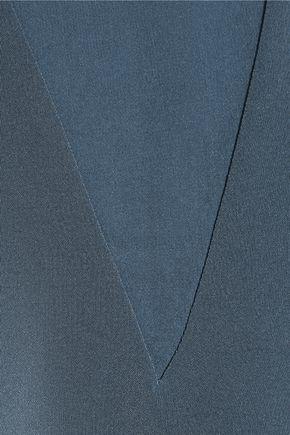 TIBI Chiffon-trimmed silk crepe de chine top