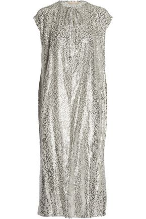 MICHAEL KORS COLLECTION Metallic fil coupé dress