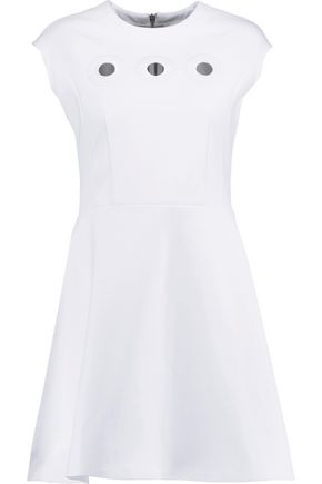 CARVEN Eyelet-embellished scuba mini dress