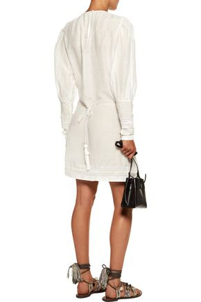 TALITHA Embroidered cotton and silk-blend voile mini dress