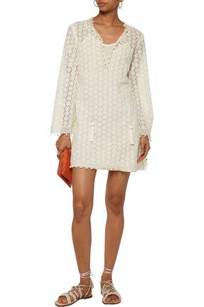 TALITHA Embellished guipure lace mini dress