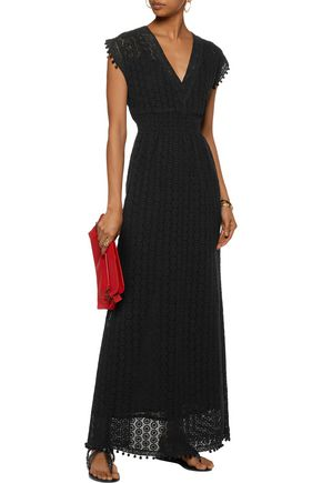 TALITHA Farah embellished guipure lace maxi dress