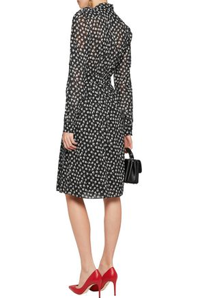 DOLCE & GABBANA Floral-print stretch silk-chiffon wrap dress