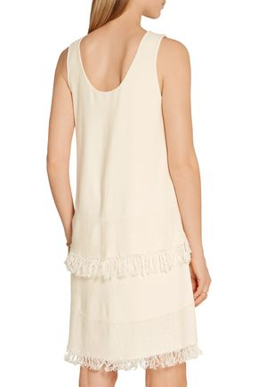 THEORY Jurinzi fringe-trimmed knitted dress