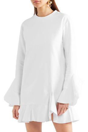 GOEN.J Ruffled cotton-jersey mini dress